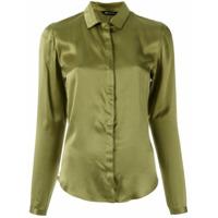 Uma | Raquel Davidowicz Camisa De Seda - Verde