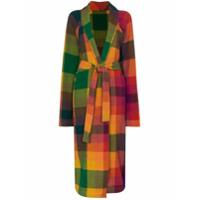 The Elder Statesman Check Cashmere Cardigan Coat - Rainbow Tartan