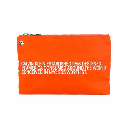 Imagem de Calvin Klein 205W39nyc Bolsa clutch 'Est.' - Laranja