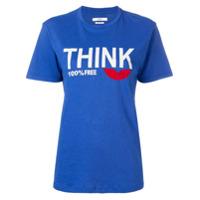 Isabel Marant Étoile Camiseta Com Estampa - Azul