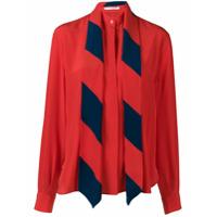 Givenchy Camisa Em Seda Com Lenço Removível - Vermelho