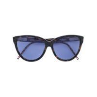 Thom Browne Eyewear Óculos De Sol Gatinho - Preto