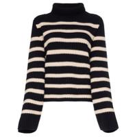 Khaite Suéter De Cashmere Listrado 'molly' - Branco