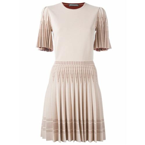 Imagem de Alexander McQueen Vestido de tricô saia plissada - Rosa