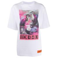 Heron Preston Camiseta Mangas Curtas Com Estampa Heron - Branco