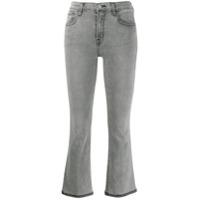 J Brand Calça Jeans Cropped Com Pesponto Contrastante - Cinza