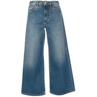 Nine In The Morning Calça Jeans Cropped - Azul