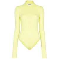 Coperni Shirt Style Bodysuit - Amarelo