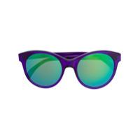 Illesteva Óculos De Sol Redondo Espelhado - Azul