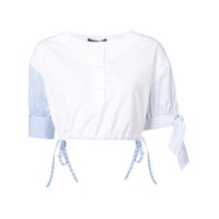 Alexander Wang Camisa Cropped 'henley' - Branco