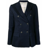Tela Double Breasted Blazer - Azul