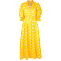 Gül Hürgel Vestido Longo Com Estampa Floral - Amarelo
