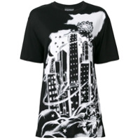 Boutique Moschino Skyscrapper Print T-Shirt - Preto