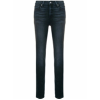 Paige Calça Jeans Skinny Cintura Baixa - Azul