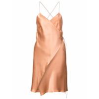 Michelle Mason Vestido Envelope - Marrom