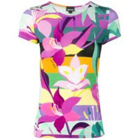 Just Cavalli Camiseta Com Estampa Floral - Rosa
