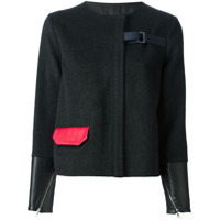 Jamie Wei Huang Contrasting Cuffs And Pocket Straight Jacket - Preto
