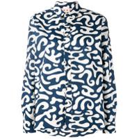 Marni Camisa Estampada - Azul