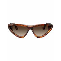 Burberry Eyewear Óculos De Sol Gatinho - Marrom