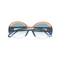 Givenchy Eyewear Óculos De Sol Oversized - Azul