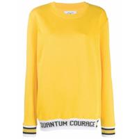 Quantum Courage Moletom Com Estampa De Logo - Amarelo
