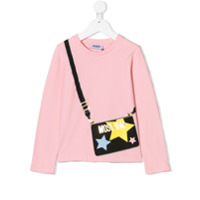 Moschino Kids Camiseta com estampa - Rosa