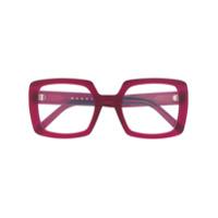 Marni Eyewear Armação De Óculos Oversized Quadrada - Rosa