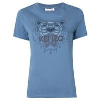Kenzo Camiseta Com Estampa De Tigre - Azul