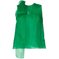 The 2Nd Skin Co. Blusa Com Laço De Organza - Verde