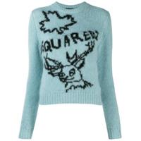 Dsquared2 Suéter De Tricô Com Logo - Azul