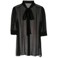 Dolce & Gabbana Camisa Com Transparência - Preto