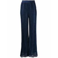 M Missoni Calça Pantalona Metálica Azul