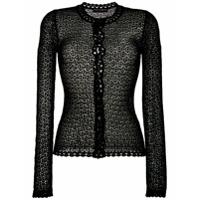Dolce & Gabbana Cardigan Crochet - Preto