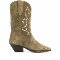 Isabel Marant Duerto Texan Ankle Boots - Verde