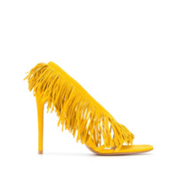 Aquazzura Sandália 105 Com Franjas - Amarelo