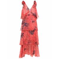Clube Bossa Vestido Midi 'levete' Estampado - Vermelho