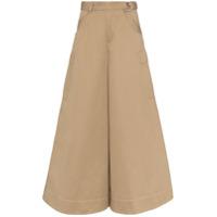 Asai Calça Cargo Pantalona - Marrom