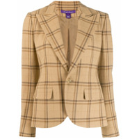 Ralph Lauren Collection Blazer Slim Xadrez - Marrom