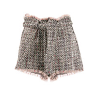Iro Short Vany De Tweed - Preto