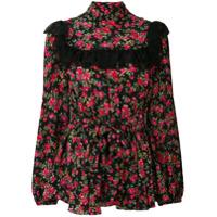 Dolce & Gabbana Blusa Floral De Seda - Estampado