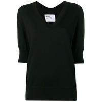 Margaret Howell Camiseta Gola V - Preto