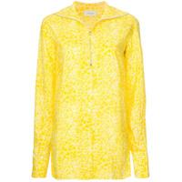 Lemaire Camisa Com Poás De Seda - Amarelo