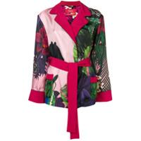 F.r.s For Restless Sleepers Jaqueta Com Estampa Floral E Cinto - Rosa