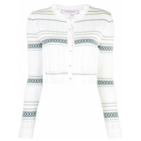 Carolina Herrera Cardigan Cropped - Branco