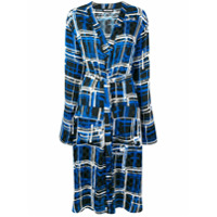 House Of Holland Checked Pyjama Shirt Dress - Azul