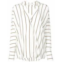 A.l.c. Blusa Oversized Listrada - Branco