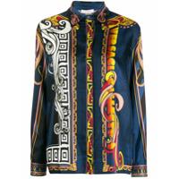 Versace Collection Baroque Print Shirt - Azul