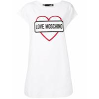 Love Moschino Vestido Com Brilho - Branco