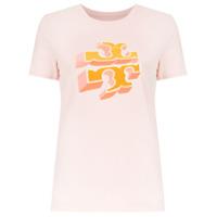 Tory Burch T-Shirt 'april' Com Estampa - Rosa