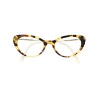 Miu Miu Eyewear Armação De Óculos Gatinho - Neutro